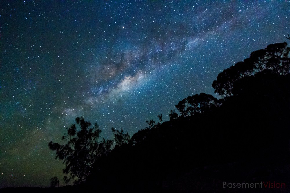 You need a place with no light pollution to see the cosmos, such as Noosa Heads in Queensland, Australia.
