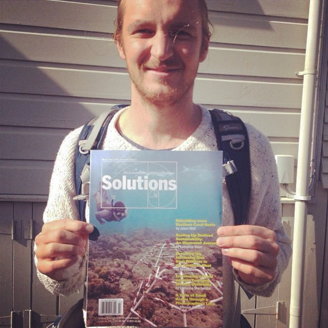 Cover image for Solutions Journal May 2015, shot by Alexander Brown