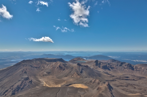 The view over the famous Tongariro crossing
