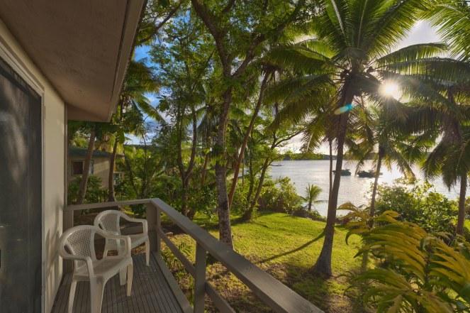Guest Room, exterior semi detached Fale balcony jungle/garden view